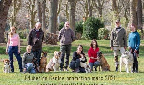 Séance photo pour éducation canine en extérieur à Auxerre